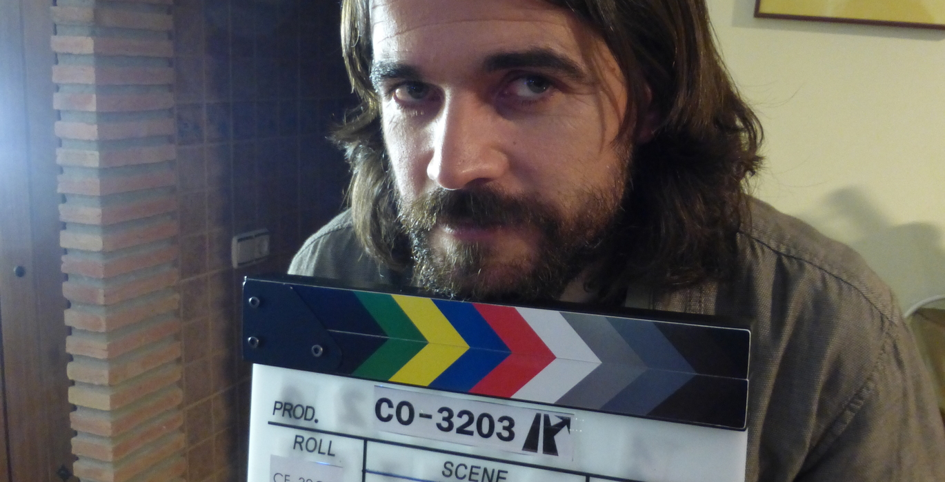 picture of the slate on set